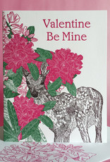 Valentine Be Mine (Rhododendron) Greeting Card
