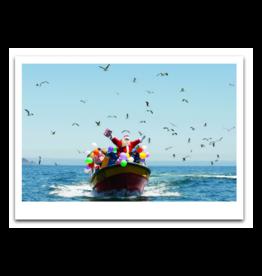 Santa on Boat Boxed Set of 10 Cards