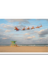 Santa On The Beach Boxed Set of 10 Cards