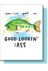 Good Lookin Bass Greeting Card
