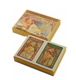 Mucha Hyacinta Double Deck Playing Cards