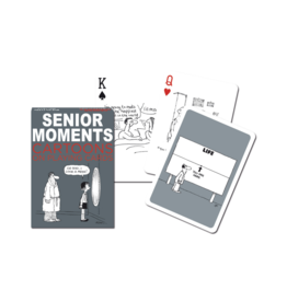 Senior Moments Cartoons Playing Cards