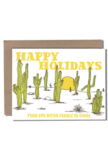 Weird Family Holiday Greeting Card