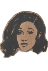 Cardi B Wooden Magnet