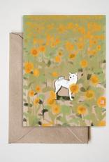 Sunflower Shiba Greeting Card
