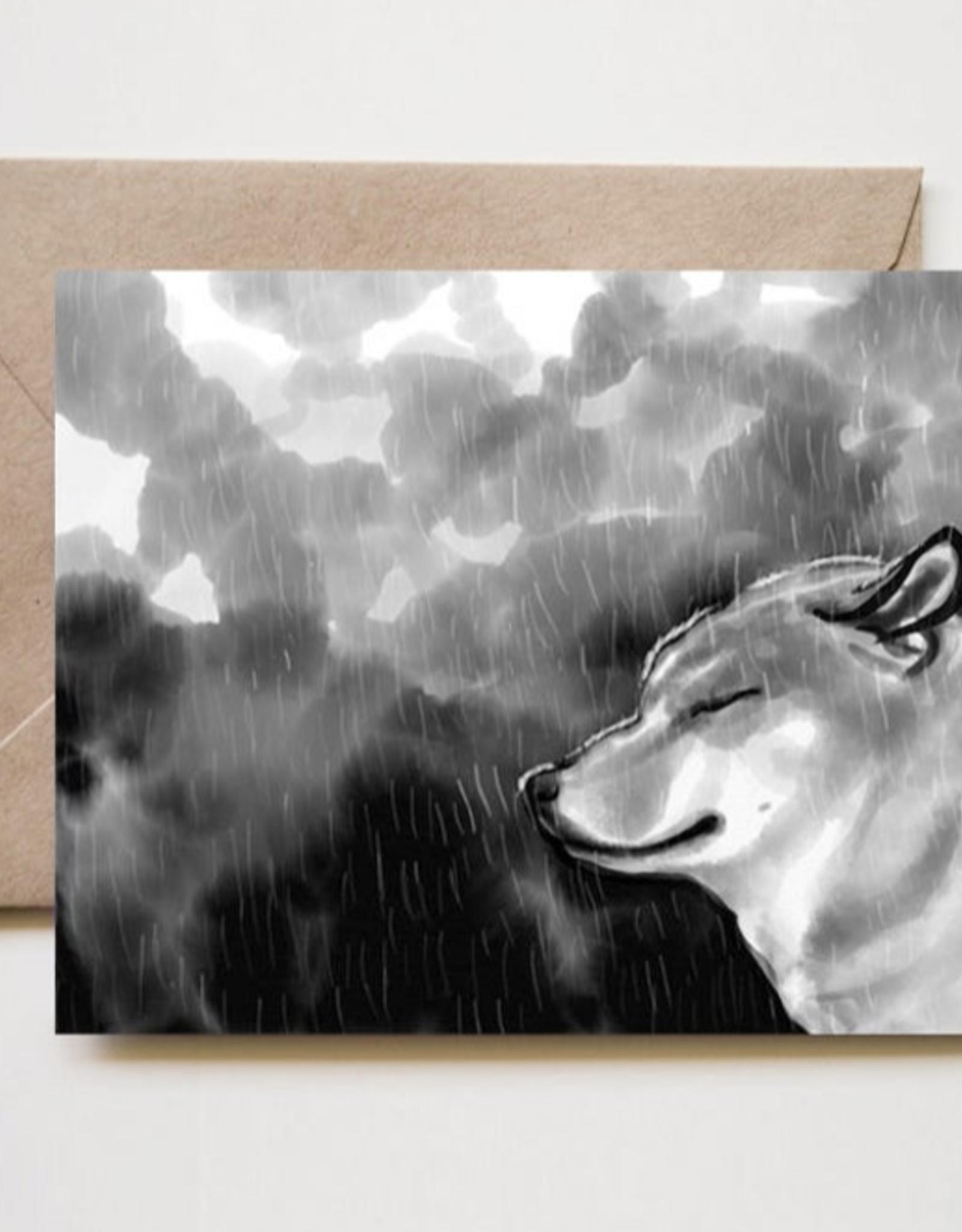 Rainy Shiba Greeting Card