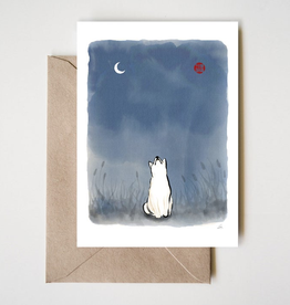 Sun and Moon Shiba Greeting Card