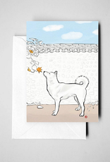 Jindo and Squash Flower Print