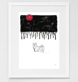 Winter Forest Shiba Print