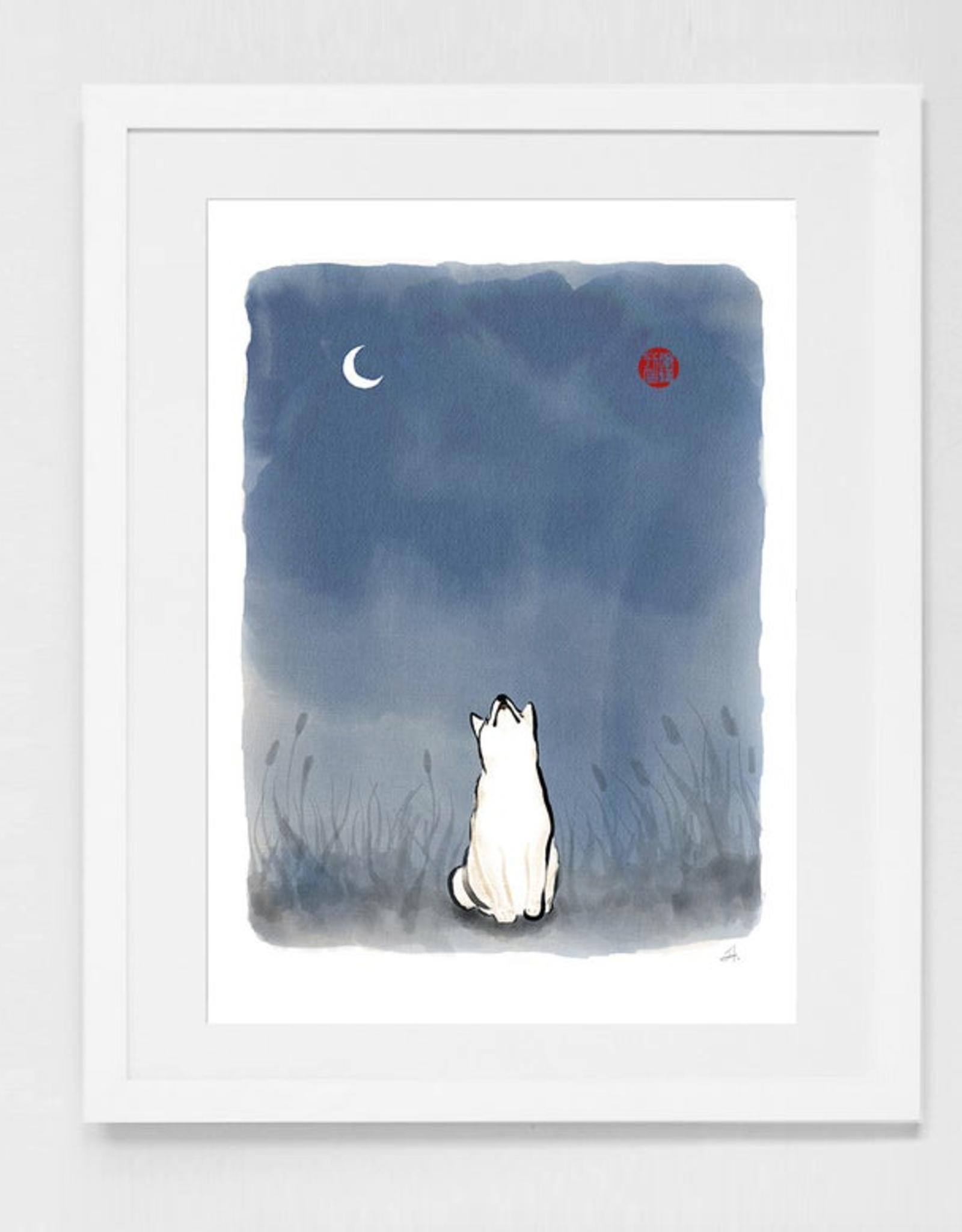 Sun and Moon Shiba Print
