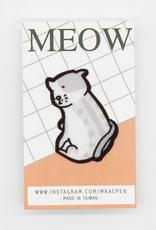Jasper the Pensive Grey Kitty Sticker Patch