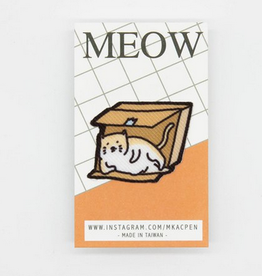 Michael the Sassy Box Kitty Sticker Patch