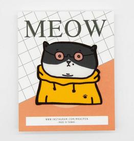 Dale the Cat in Orange Sticker Patch