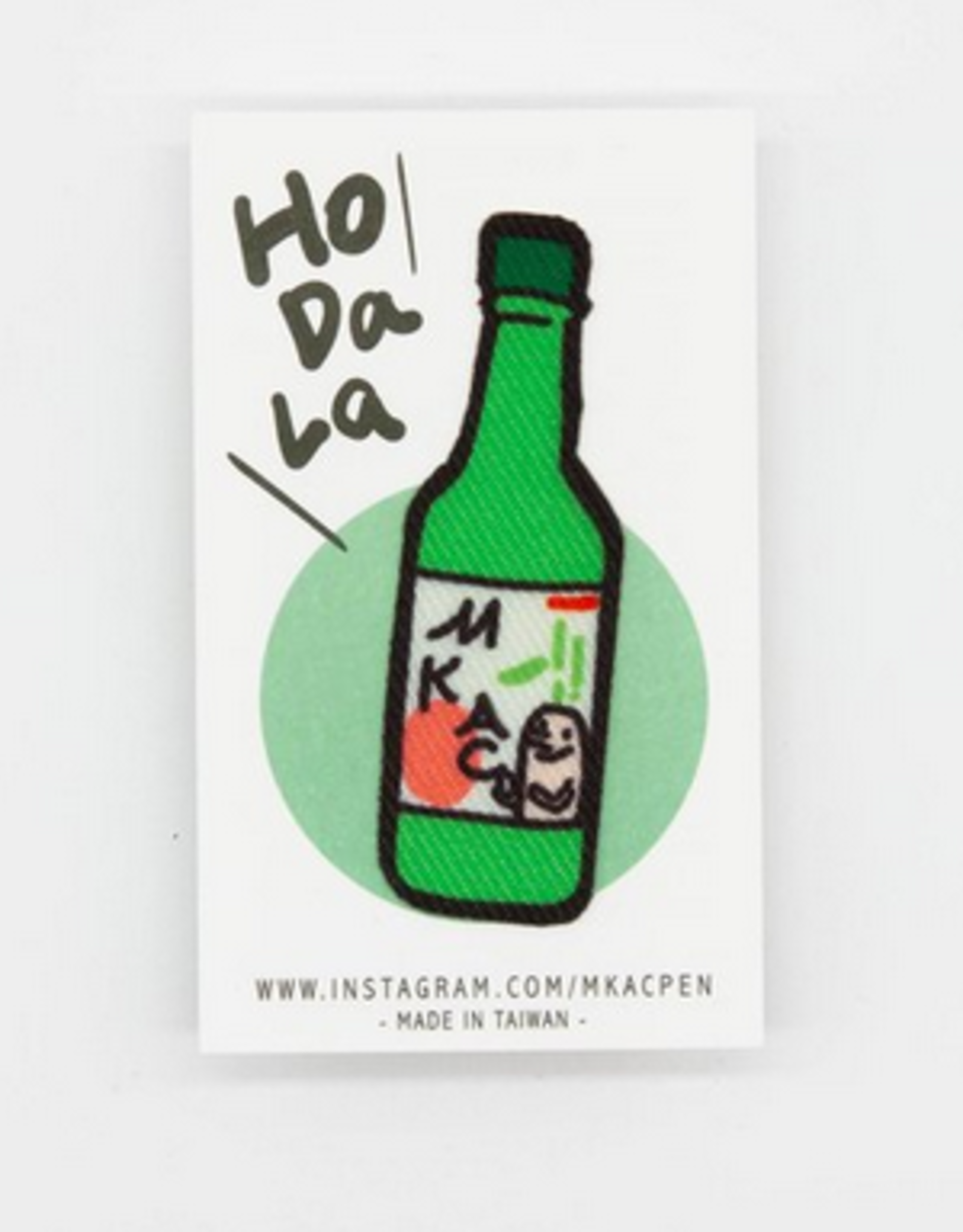 Soju Bottle Sticker Patch