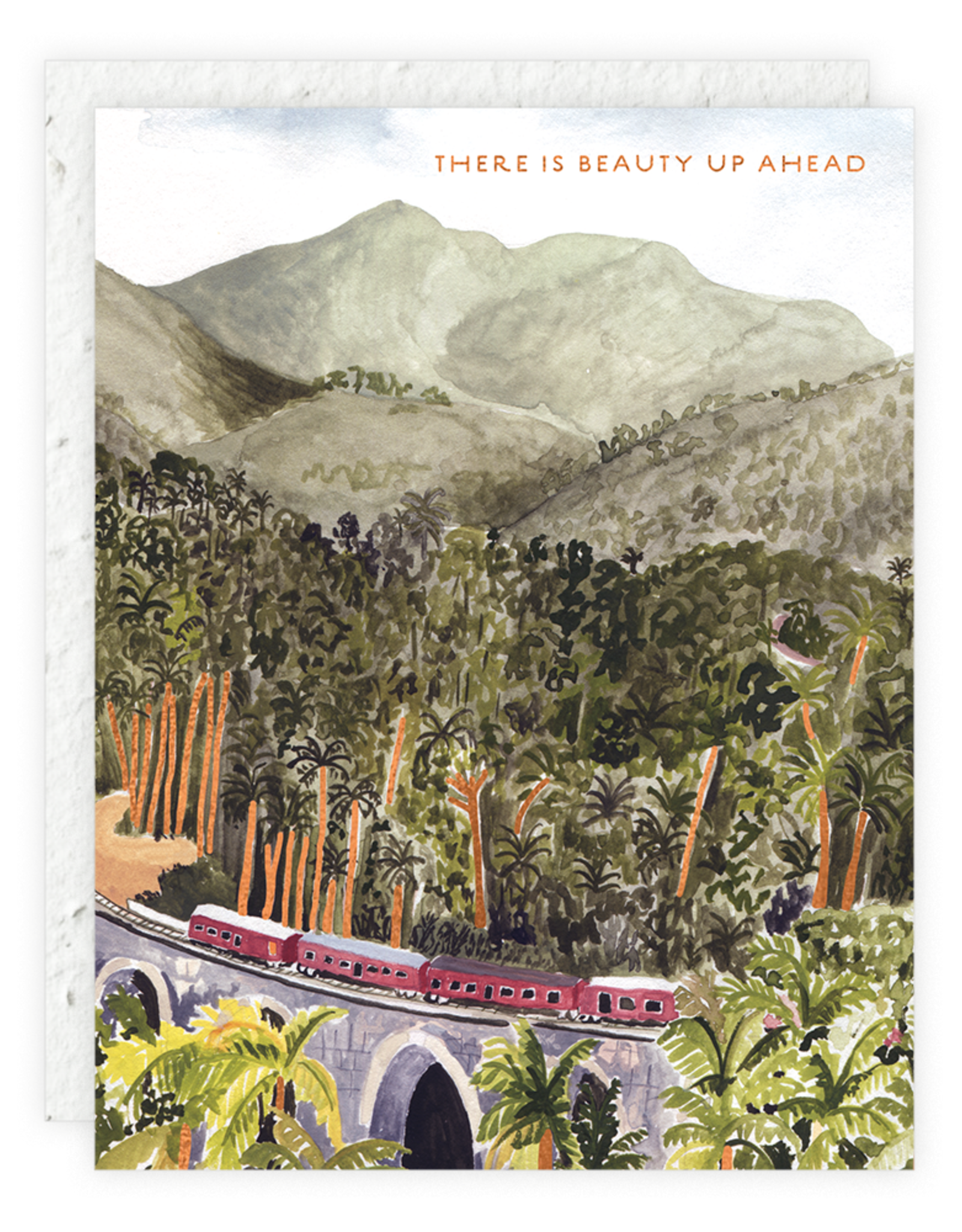 There is Beauty Up Ahead Greeting Card