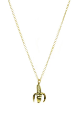Banana Necklace - Brass