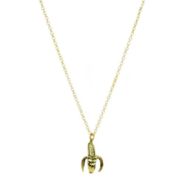 Banana Necklace - Brass