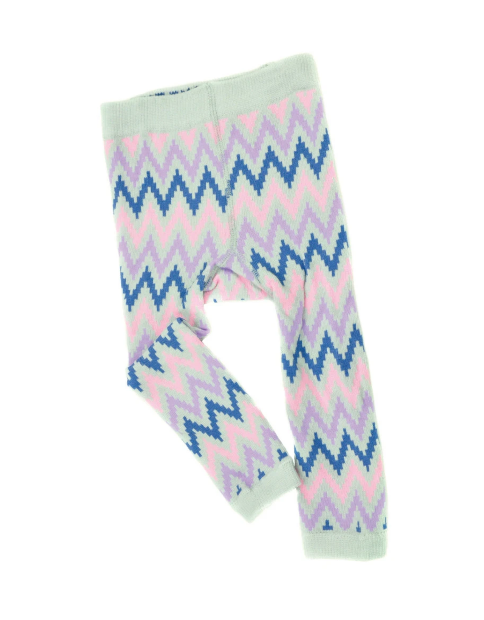 Chevron Footless Tights Pink/Light Pink 12-24M