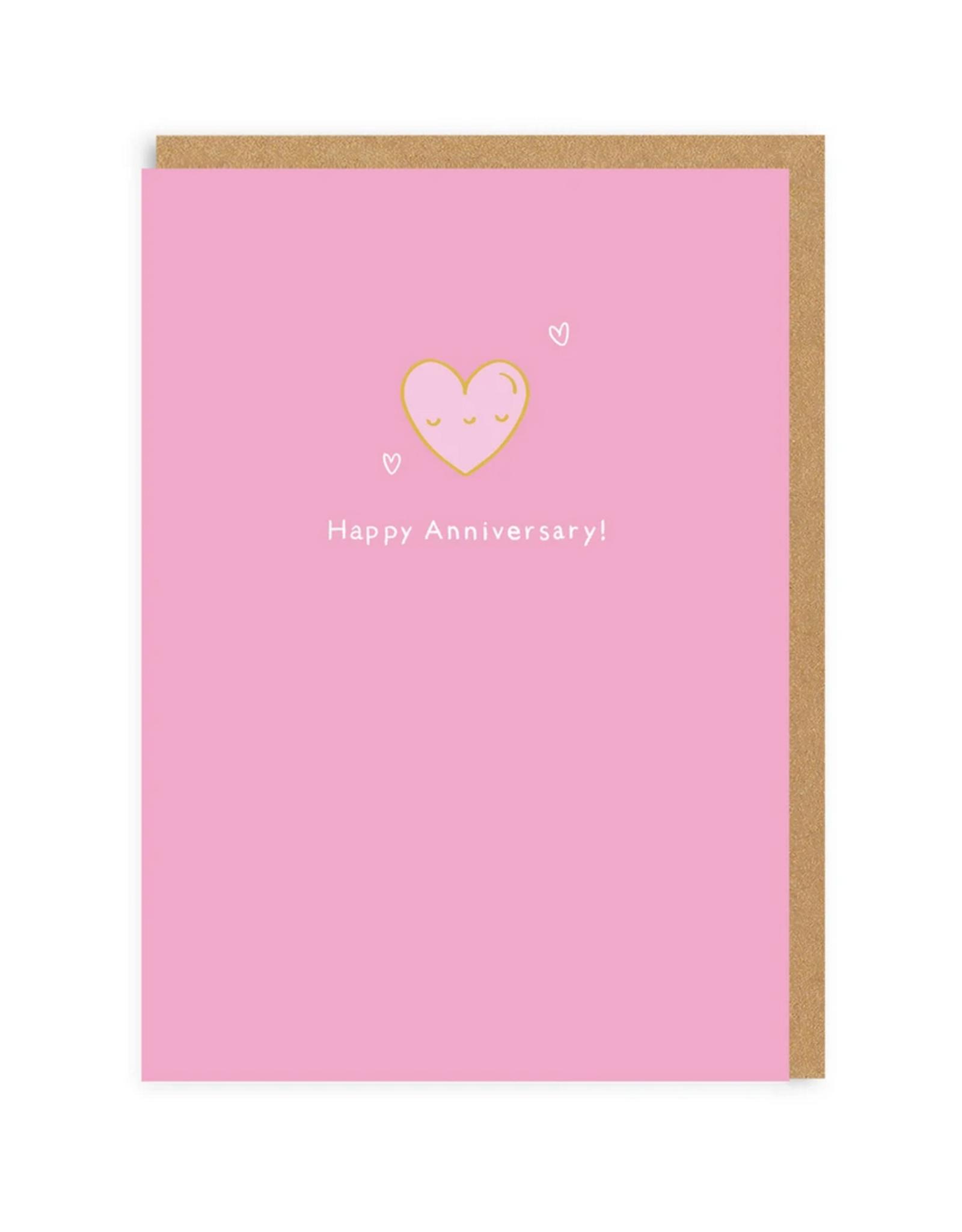 Happy Anniversary Heart Enamel Pin Greeting Card