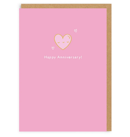 Happy Anniversary Heart Enamel Pin Greeting Card