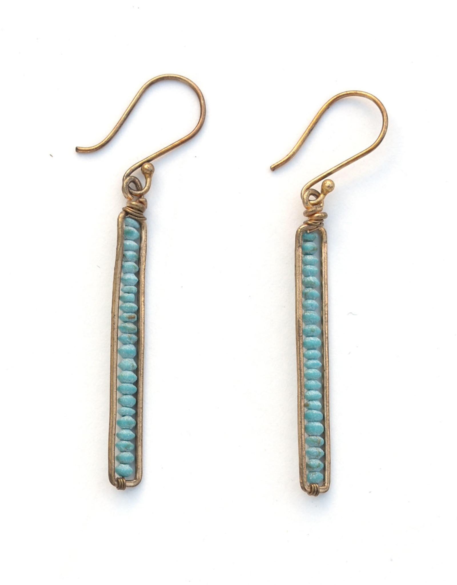 Peapod Earrings - Turquoise