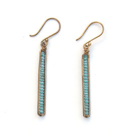 Peapod Earrings - Turquoise