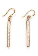 Peapod Earrings - White Silverite