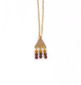 Mustard Geometric Necklace