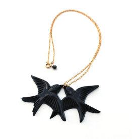 Black Birds Necklace