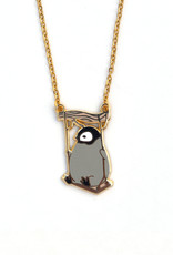 Baby Penguin On A Swing Necklace
