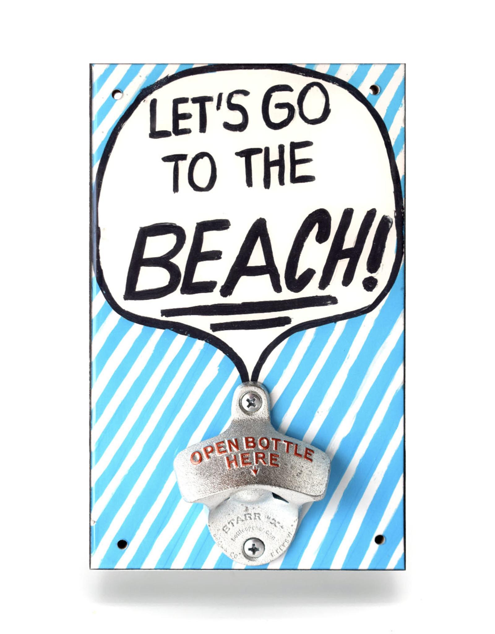 Let's Go to the Beach Bottle Opener
