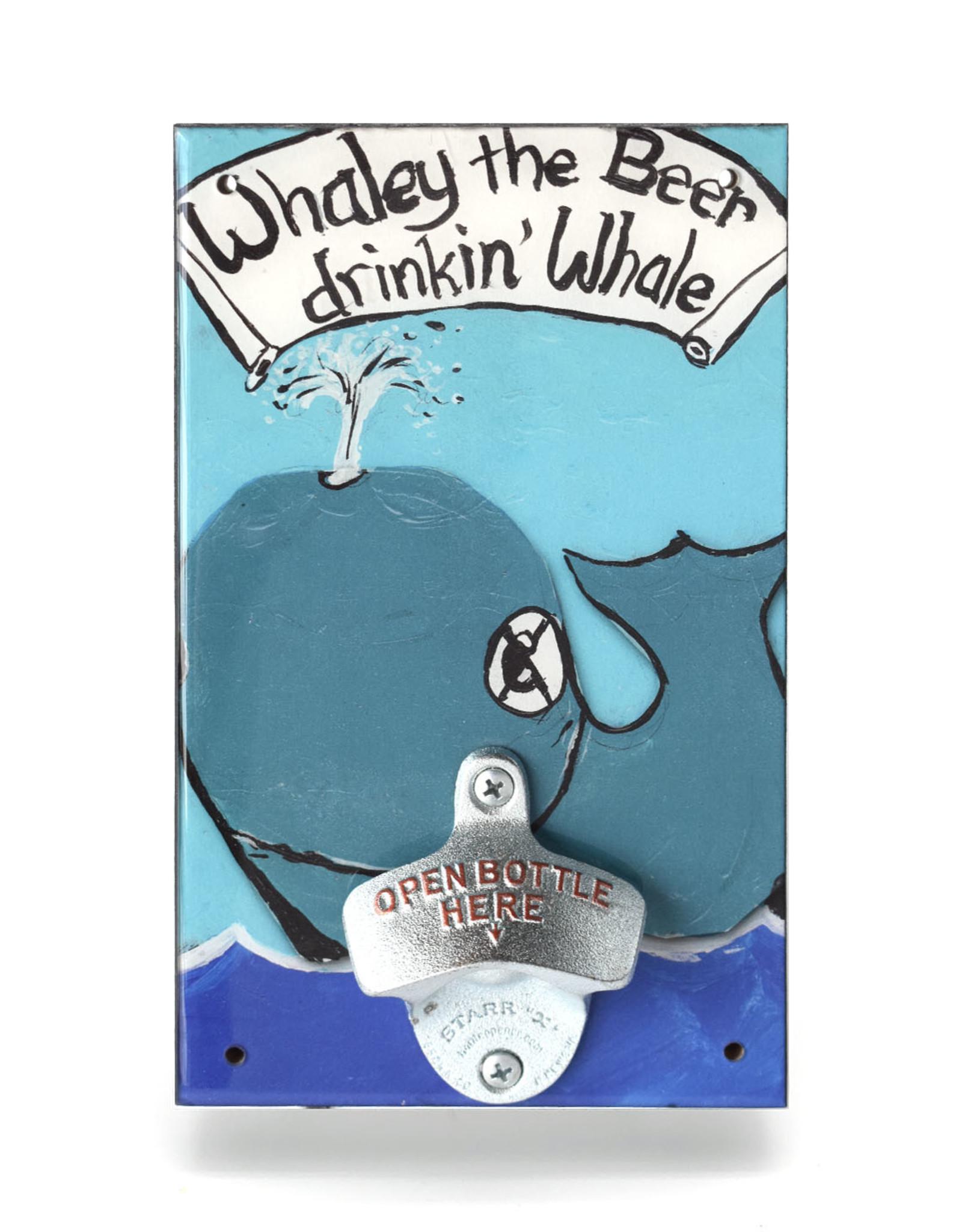 Whaley Beer Drinkin Whale Bottle Opener