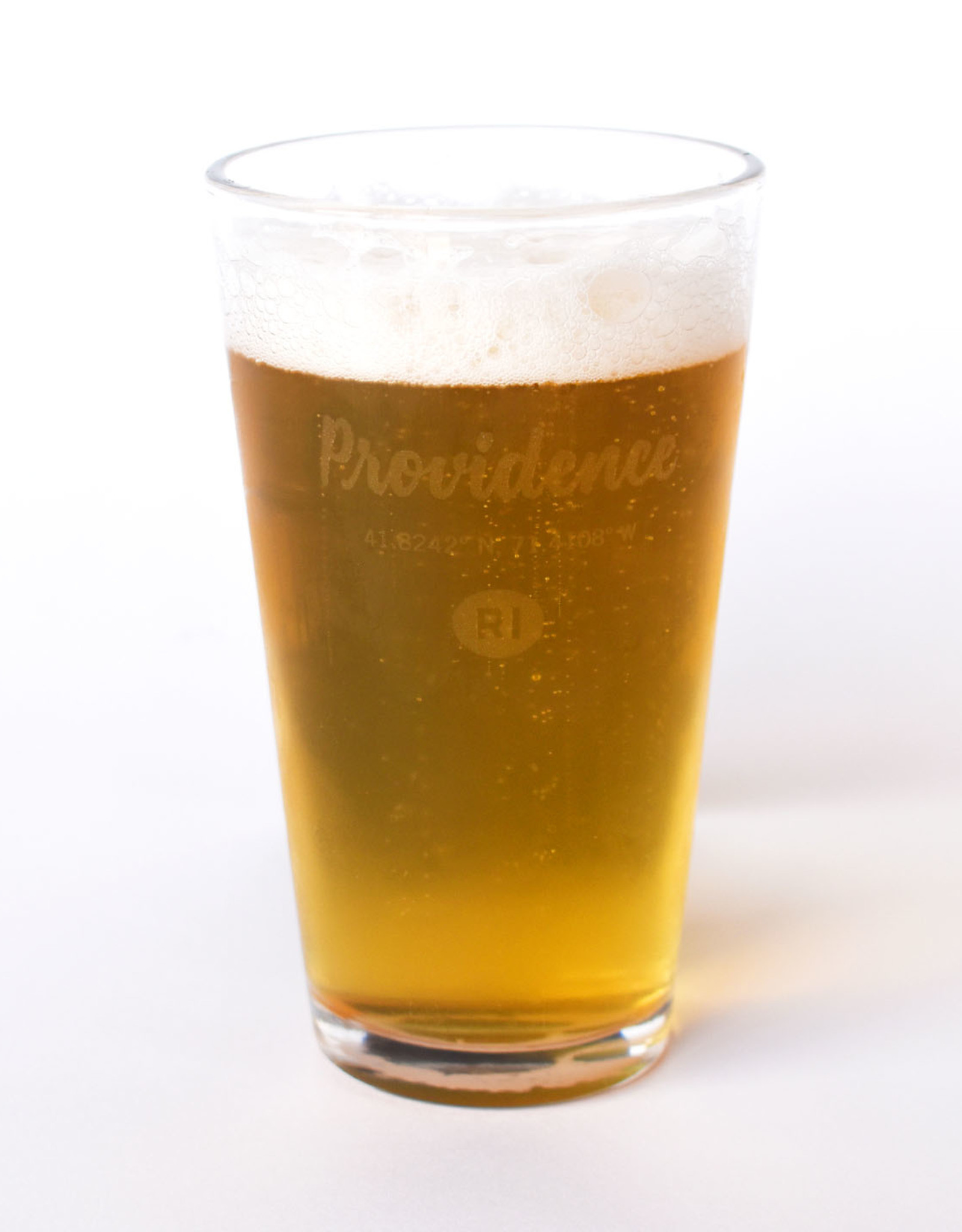 Providence Coordinates Pint Glass