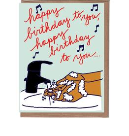Hand Washing Birthday Greeting Card