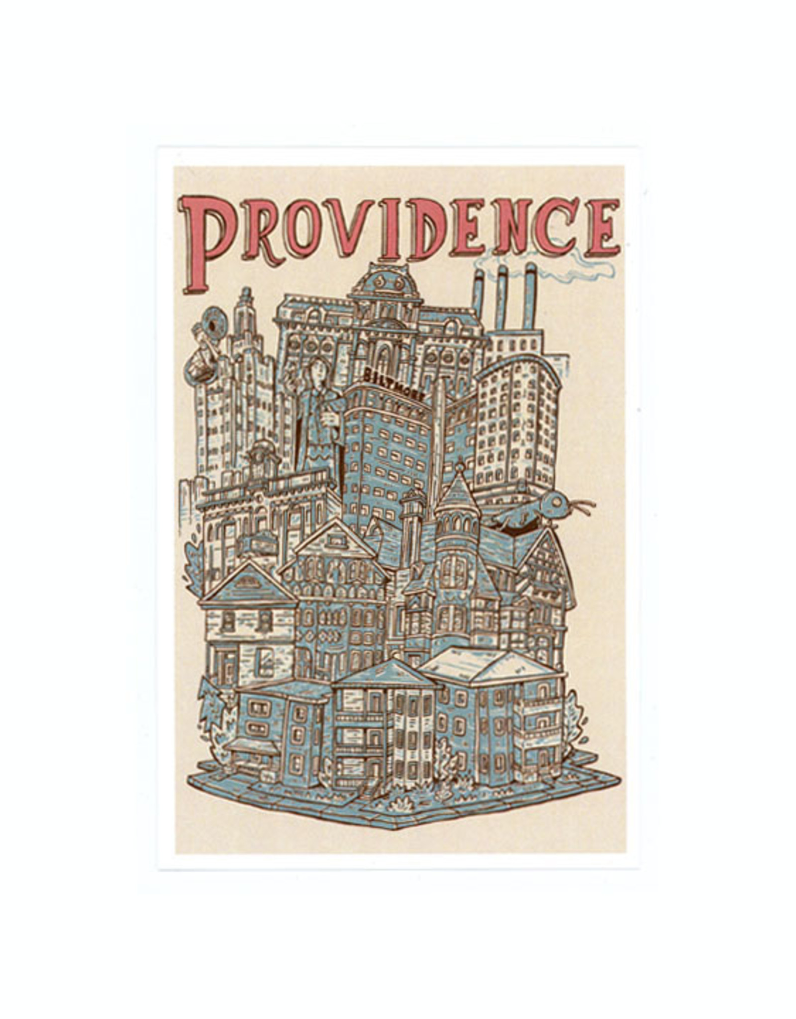 Providence Cityscape Framed Print (CURBSIDE PICK-UP)