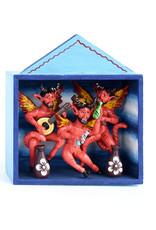 3 Little Dancing Devils Retablo
