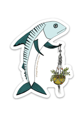 Mackerel Macrame Sticker