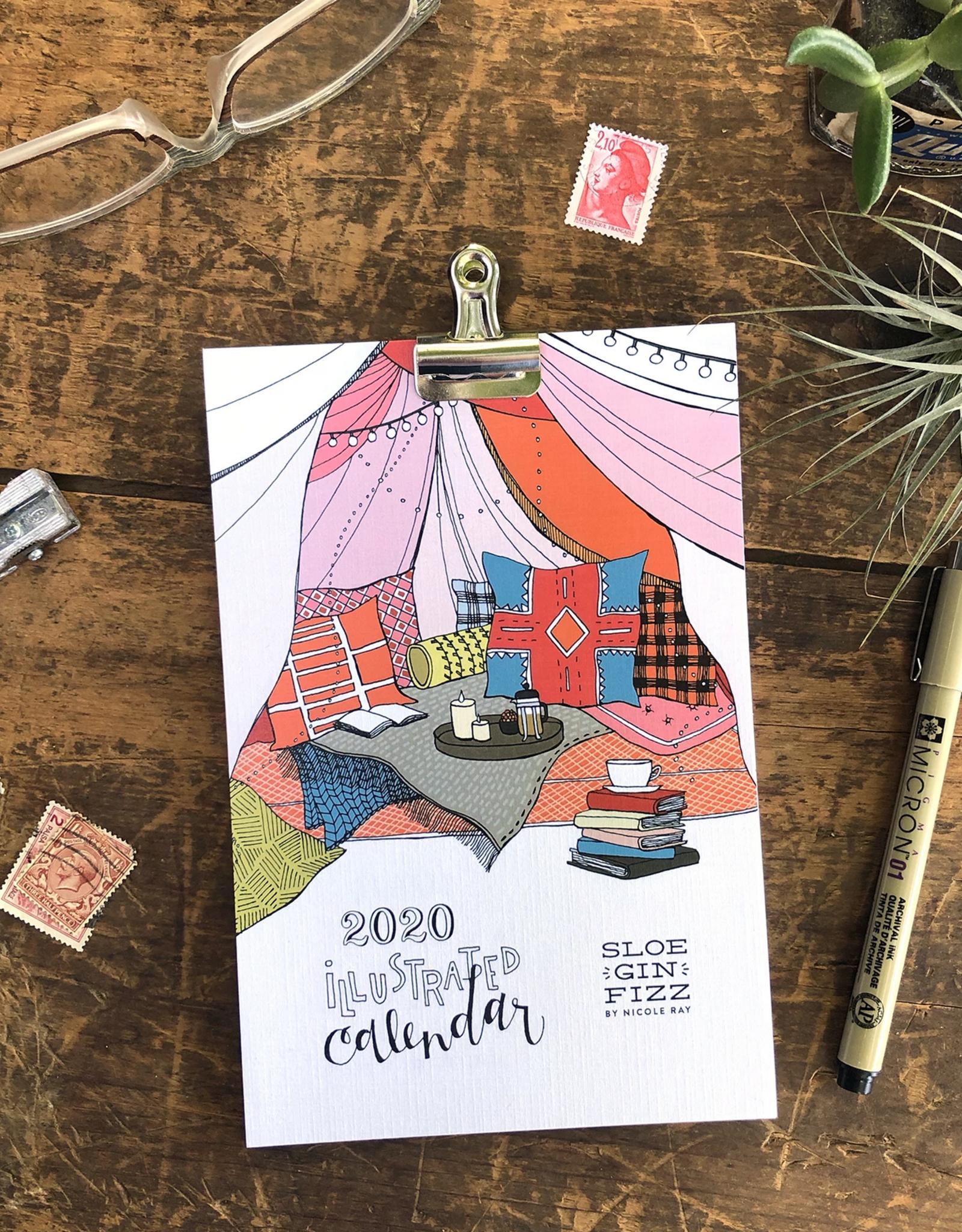 Sloe Gin Fizz Illustrated 2020 Calendar