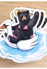 Bikini Bear Sticker