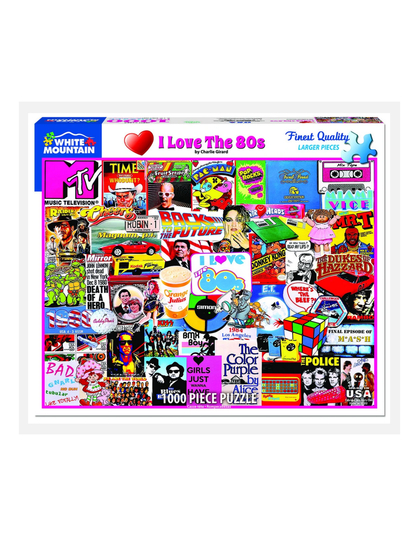 I Love the 1980s 1000 Piece Puzzle