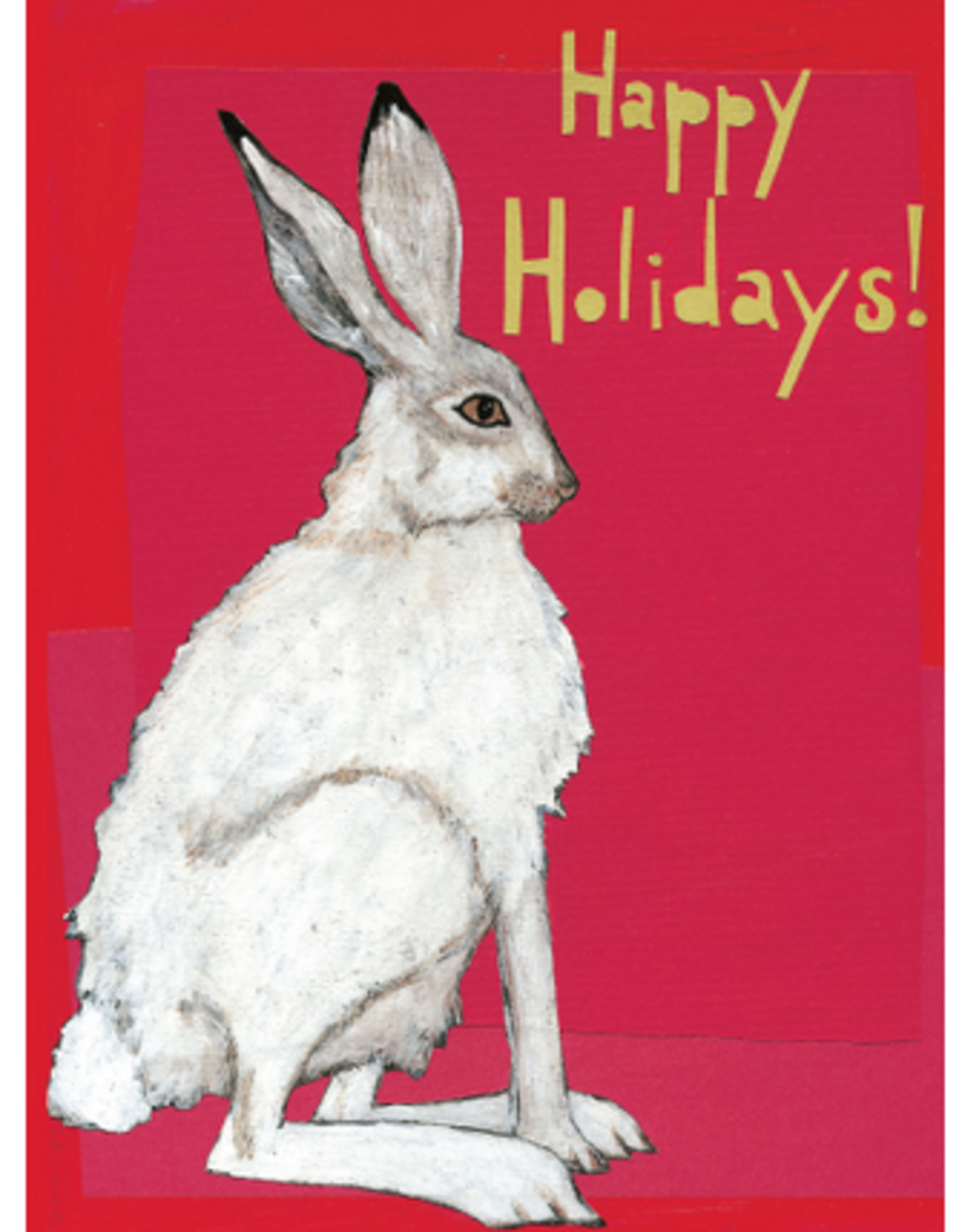 Holiday Rabbit Greeting Card