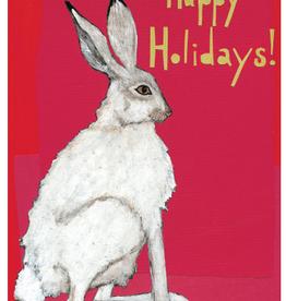 Holiday Rabbit Greeting Card