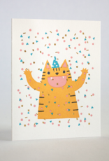 Confetti Cat Greeting Card