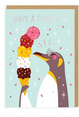 Have a Cool One Penguin Greeting Card