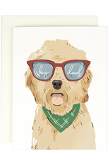 Hey Dood (Labrodoodle) Greeting Card