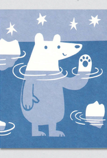 Paddling Polar Bear Greeting Card