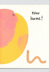 New Home! Worm & Peach Greeting Card