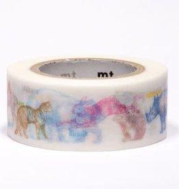 Labeled Animals Washi Tape