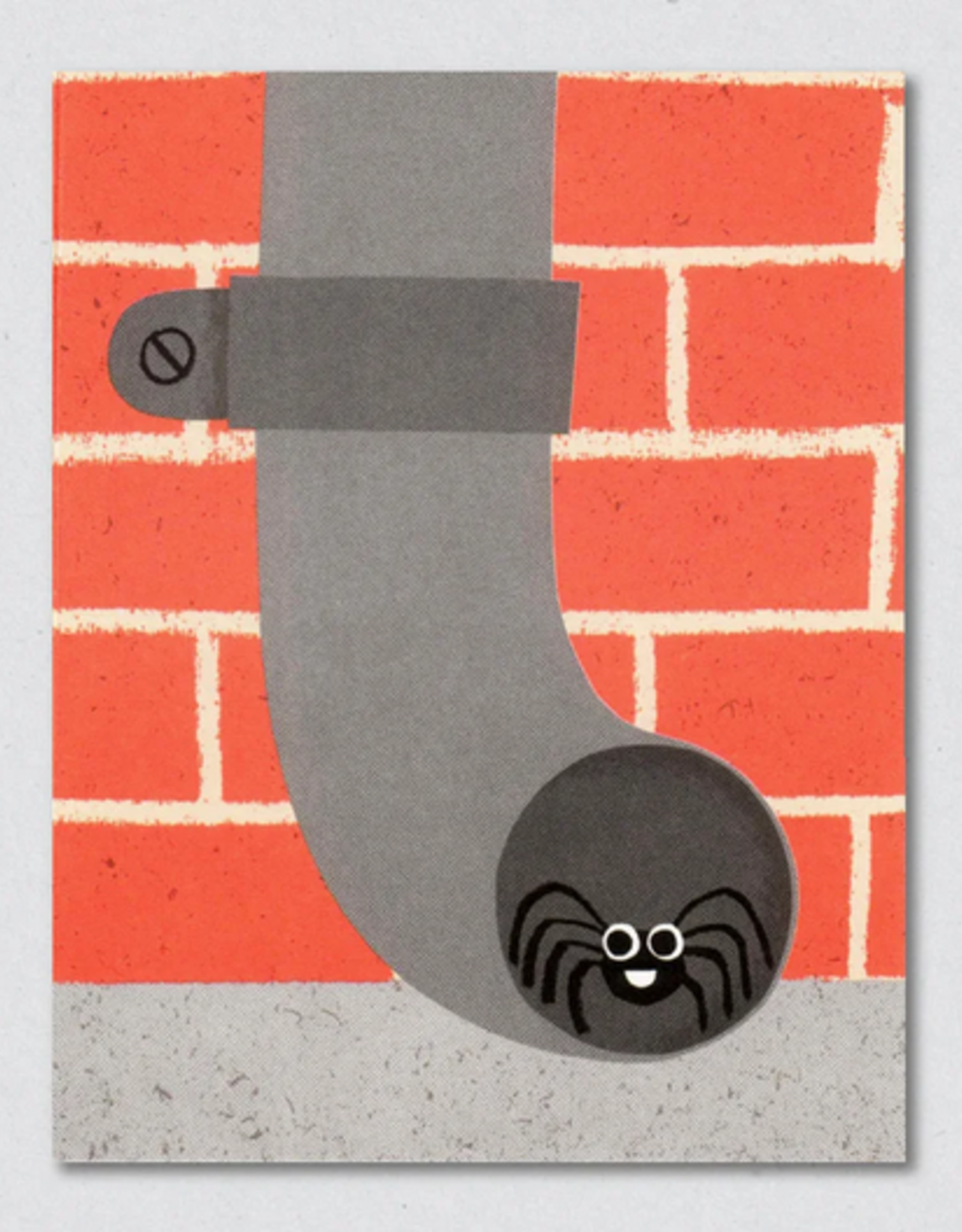 Spider In Drainpipe Greeting Card