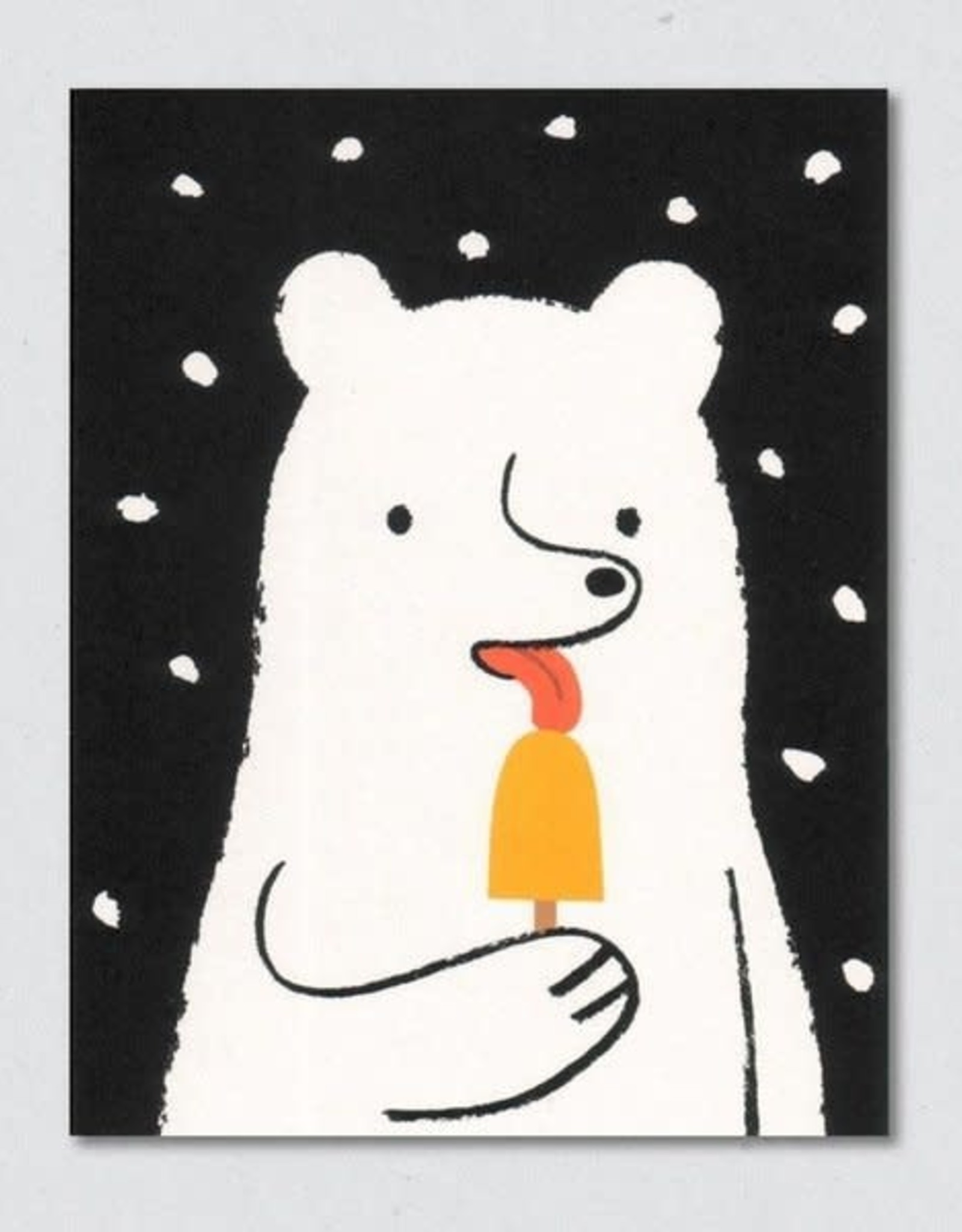 Polar Bear & Popsicle Greeting Card